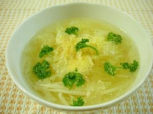 ☆キャベツとエノキタケのゆで汁スープ☆