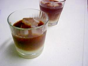 甘くておいしい!オシャレな2層のアイスコーヒー