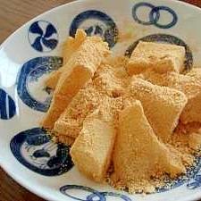 わらびもち きな粉、餅とり粉消費に…
