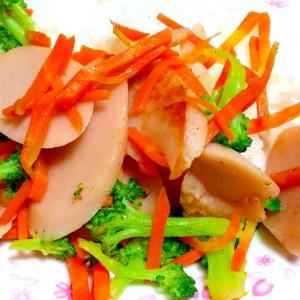 お弁当に!ソーセージと野菜のスピード副菜♪