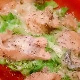 鮭缶&ルクエで、キャベツと鮭のマヨチーズ蒸し