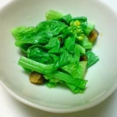 菜花ときゅうりのキューちゃんの和え物