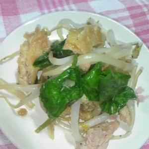 からし菜とツナの炒め物