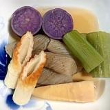 さつま芋、蕗、筍、ねじり糸こんにゃくの煮物