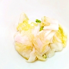 白菜の梅浅漬け