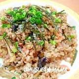 黒豆幻米で明太子チャ-ハン
