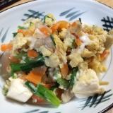 ニラ玉豆腐チャンプルー