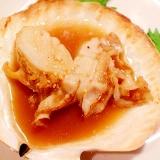 おうち居酒屋大人気メニュー☆帆立のガリバタ醤油焼き