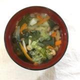 野菜たっぷり!わかめスープ