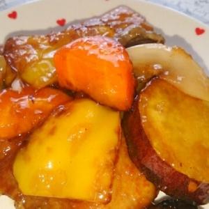 鶏肉(豚肉)と野菜の甘酢炒め