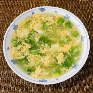 卵とオクラの中華スープ
