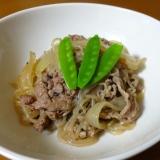 簡単に!牛肉と糸コンニャクの煮物