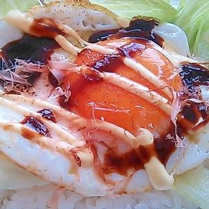 手抜きランチに♪マヨ&ソース目玉焼き丼