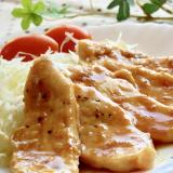 節約★固くならない♫柔らか♫むね肉の生姜焼き