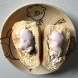 いちごヨーグルトバナナクリームパン