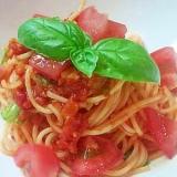 トマトソースで簡単♪冷製パスタ