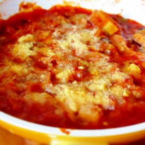 豚肉のトマト煮チーズ焼き