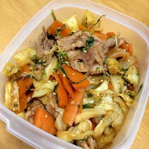 簡単★作り置きや夕飯に!焼肉のタレで野菜炒め