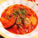 サバ缶のトマト煮込み