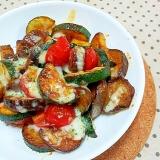 ✿ズッキーニとトマトと茄子で❤夏野菜のチーズ焼き