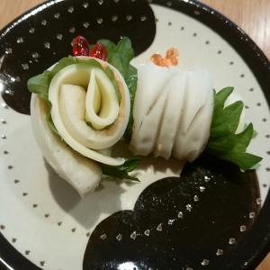 ちくわの青ジソチーズ巻き☆ちくわ巻き巻きパート1