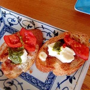 トマトバジルチーズ仏蘭西ブレッド