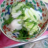 白菜菊菜大蒜スープ