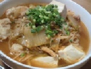 豆腐ともやしとえのきのキムチスープ♪