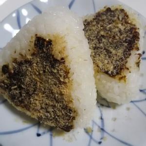海苔の佃煮の焼おにぎり(^^)