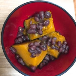 ●レンジで◎かぼちゃと小豆のおやつ◎簡単◎子供