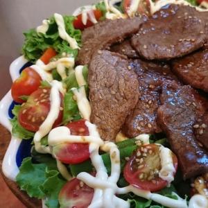 野菜を大量摂取、夏の焼肉サラダ