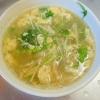 えのきと水菜の中華卵スープ
