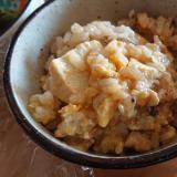 豆腐と卵の味噌雑炊