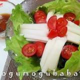 長芋とわかめのポン酢サラダ