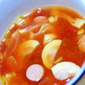 筍とエシャレットのトマトスープ