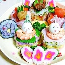 おひなさまプレート2007☆押し寿司