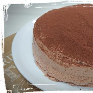 シンプルに☆チョコガナッシュケーキ♪