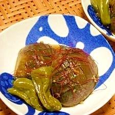 茄子の生姜醤油煮