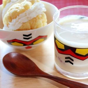 冷凍パン★ホイップメロンパンと豆乳ヨーグルト
