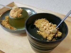 【独居自炊】緑茶ゆるゆる寒天