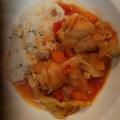 圧力鍋で☆ほろほろ手羽元とキャベツのトマト煮