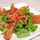 大蒜香る♡サラダほうれん草とトマトとベーコンサラダ