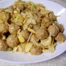 肉団子と野菜の炒め煮☆