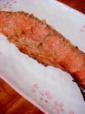 味噌風味が美味◎鮭の味噌焼き