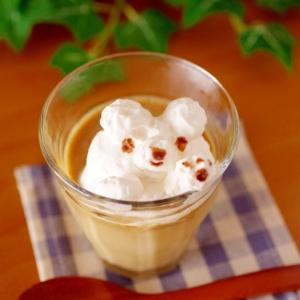 ミルク珈琲プリン☆シンプル簡単なめらかレンジプリン
