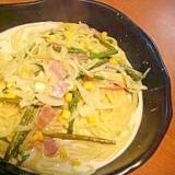 簡単おいしい、野菜も取れる!スープパスタ