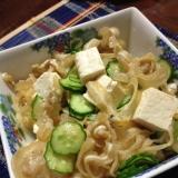 ミミガーの豆腐サラダ