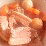 塩麹で下味!煮豚