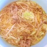 野菜炒めのっけ☆醤油ラーメン
