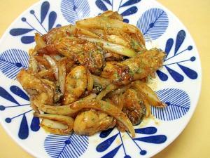牡蠣と玉葱のオイスターソース炒め